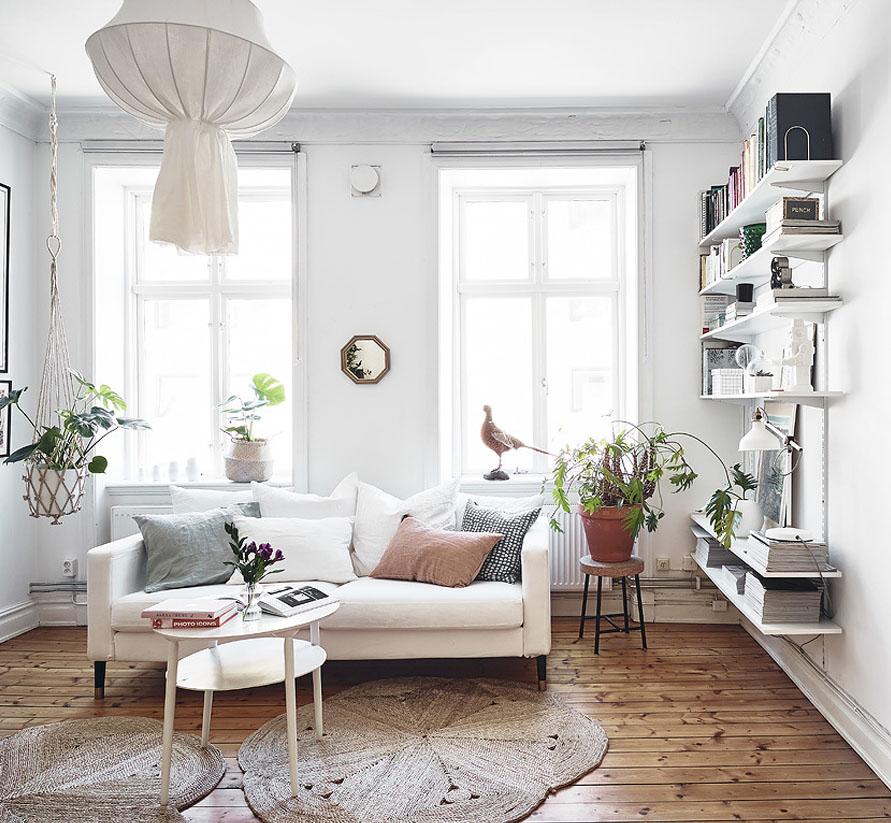 interior de una casa decorada con tendencia