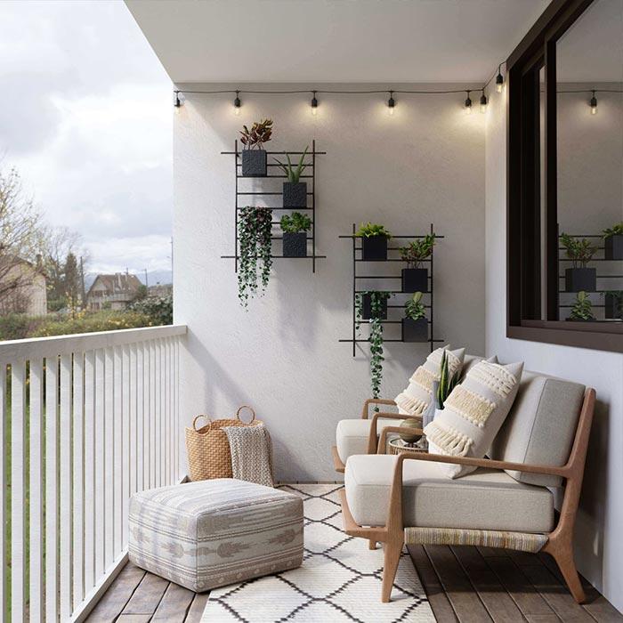 Amuebla tu balcón o terraza para disfrutar del aire libre