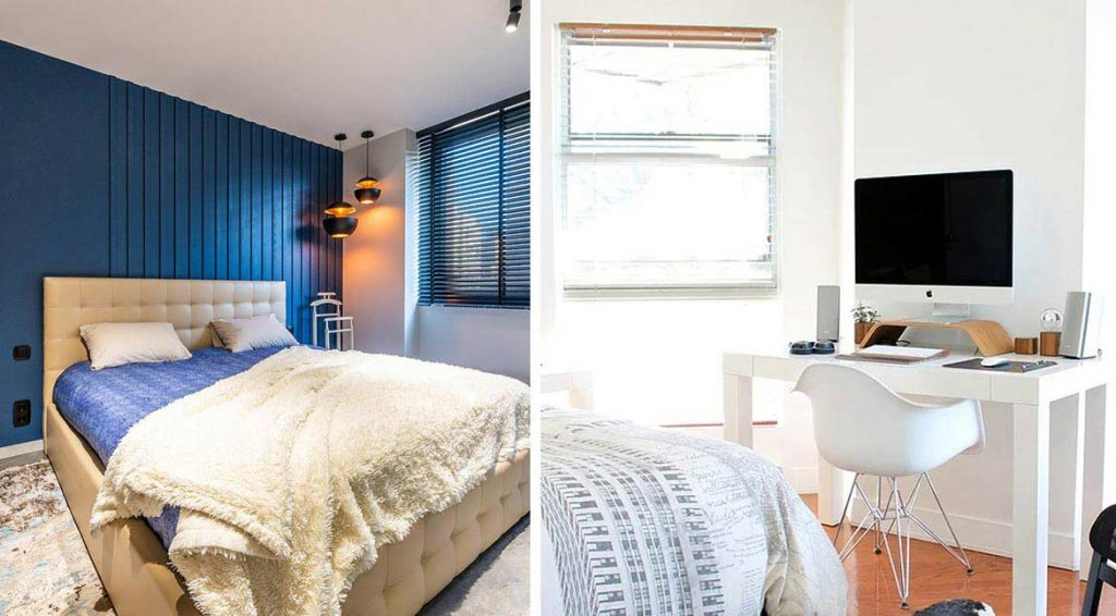 Si vas a dedicar esta habitación a la relajación, pintar tu habitación con colores oscuros será lo ideal porque reducirá en gran medida la luminosidad del lugar.