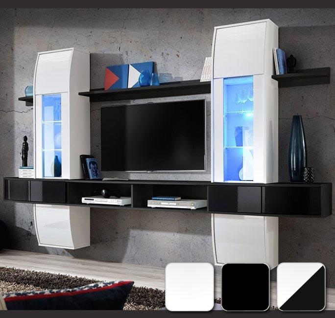Serie de muebles de diseño, muy original. PVC de alto brillo. Luces LED incluidas vitrinas.
