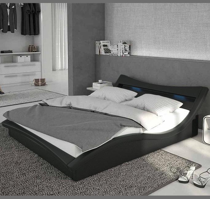 Letto de design Granada nero