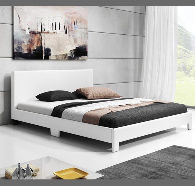 Cama de diseño Luna en color blanco