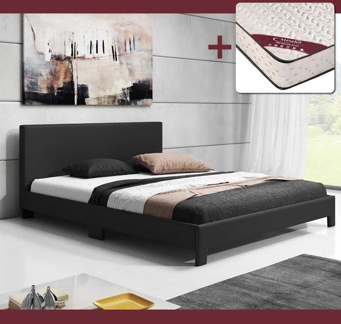 Cama diseño Luna en color negro con colchón