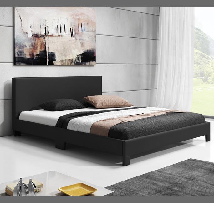 cama de diseo luna en color negro