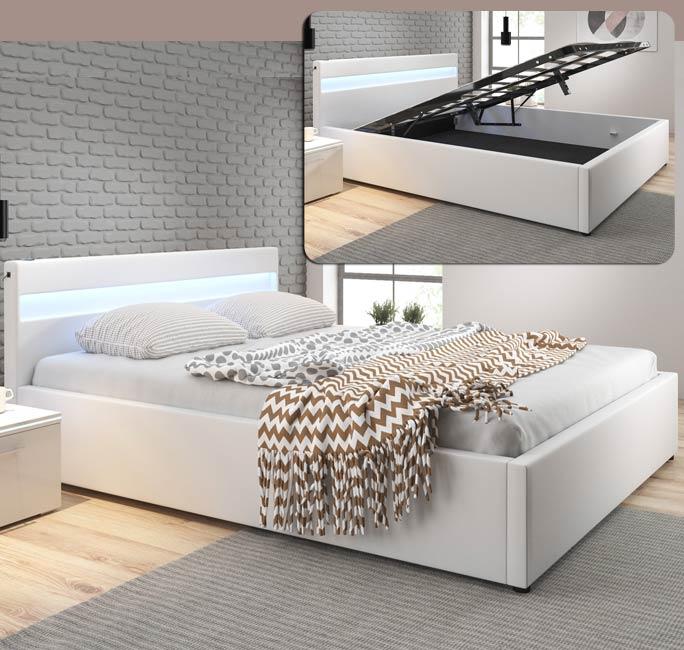 Cama de diseño Ades en color blanco