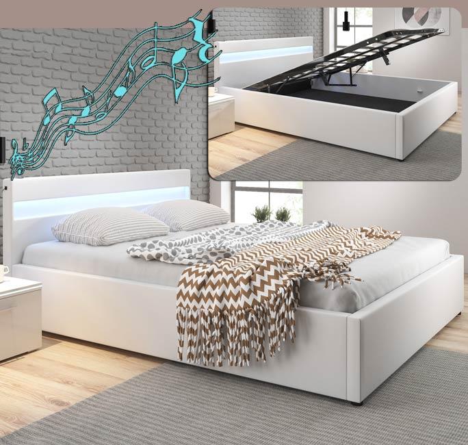 Cama de diseño Bahia en color blanco