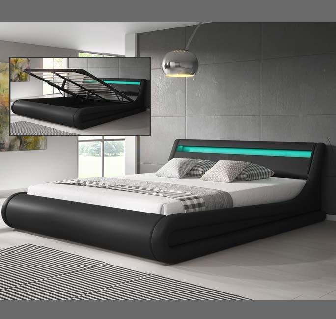 cama de diseo parisina en color negro