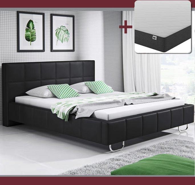 Cama de diseño Sofía en color negro con colchón