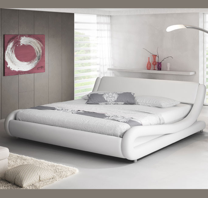 Cama de matrimonio alessia en color blanco 180x200cm for Cama matrimonio blanca