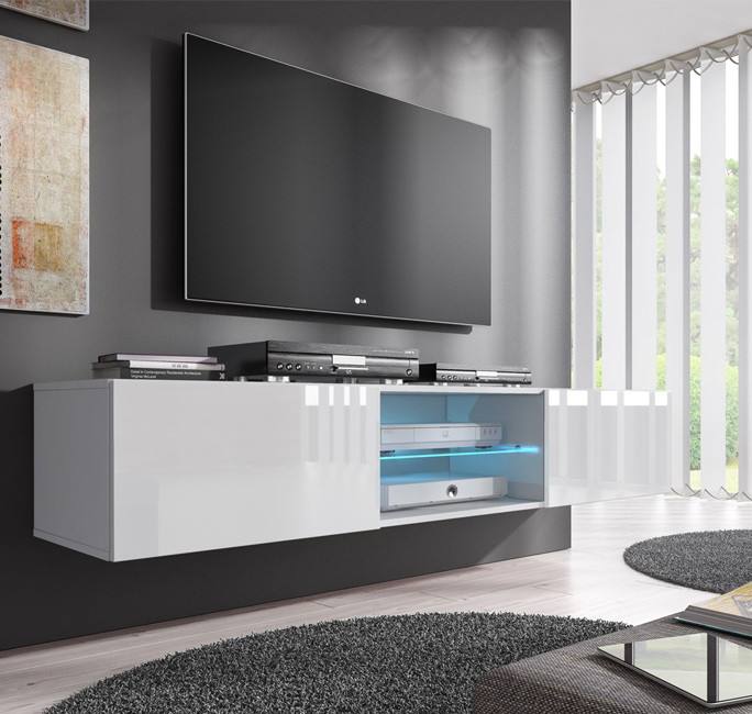 Mueble tv modelo tibi 160 cm en color blanco for Muebles de salon tv