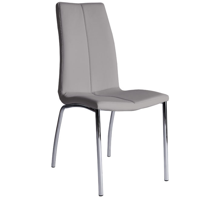 Silla de comedor morgana color gris claro for Sillas comedor color gris