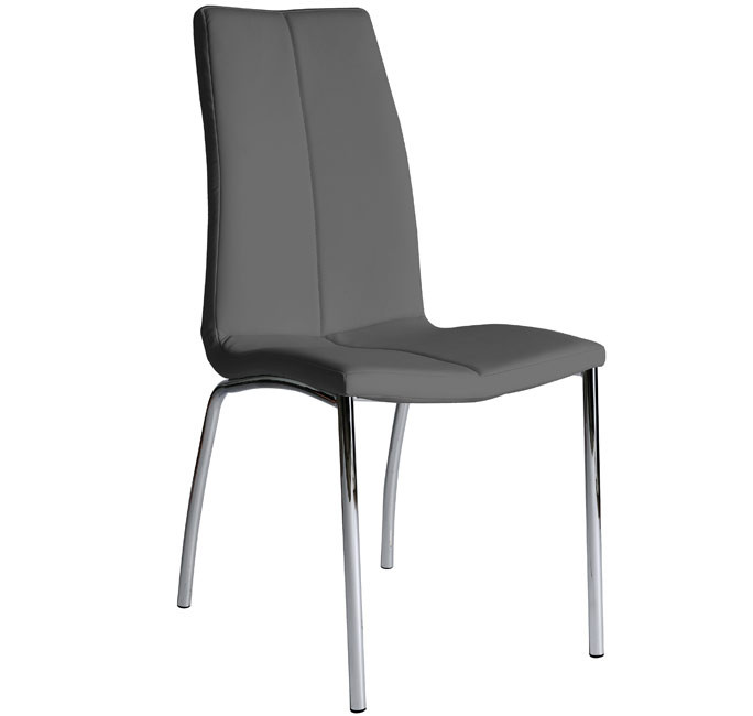 Silla de comedor morgana color gris oscuro for Sillas comedor color gris