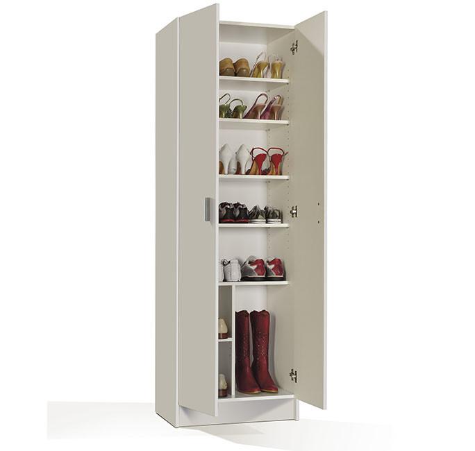 Armario multiusos blanco 2 puertas + 7 estantes modelo 007146O