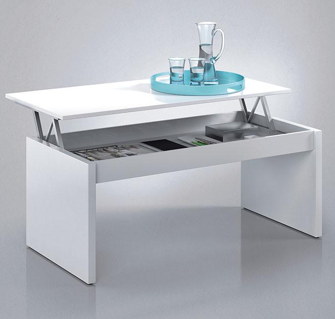 Mesa de Centro Elevable color blanco Modelo 001638BO