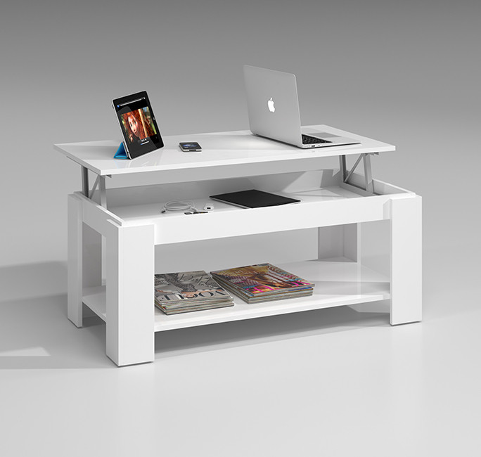 Mesa de Centro Elevable color blanco artik Modelo 001639A
