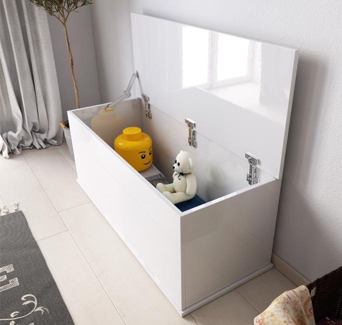 Baúl de almacenamiento Ariel en color blanco