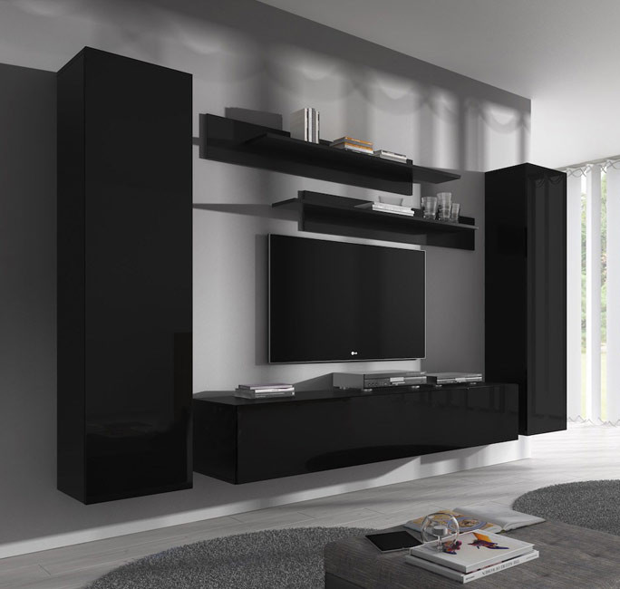 conjunto meubles nora negro b1