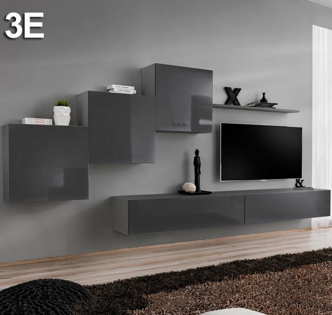 Conjunto de muebles Berit 3E gris (3,3m)