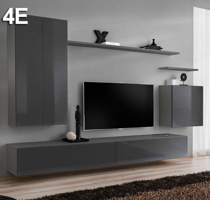 Conjunto de muebles Berit 4E gris (2,7m)