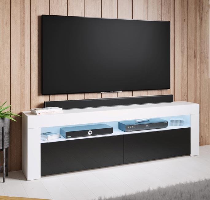mueble-tv-aker-140-blanco-negro