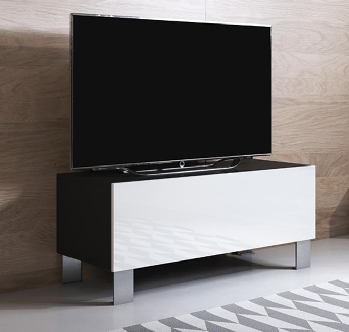mueble-tv-luke-h1-100x30-pies-aluminio-negro-blanco