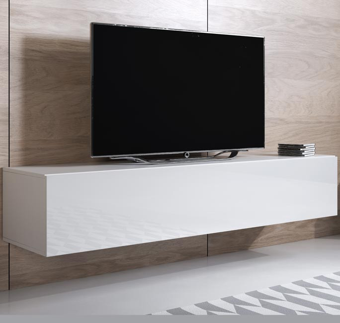 mueble tv luke h1 160x30 blanco