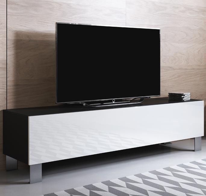 mueble-tv-luke-h1-160x30-pies-aluminio-negro-blanco