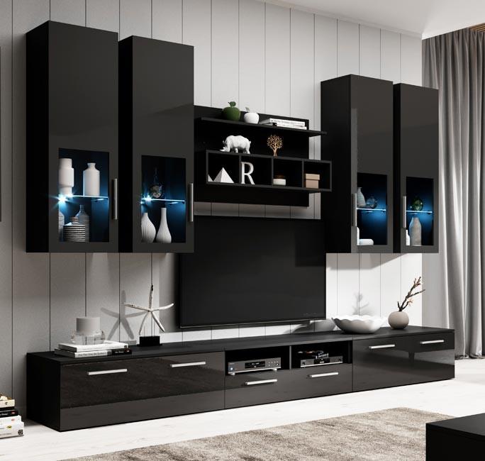 mueble salon acosta negro
