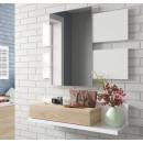 Recibidor con espejo color roble canadian con blanco artik Modelo 0F6742A