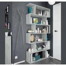 Estantería Zig Zag color cemento modelo 301011L