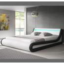 cama parisina blanco negro