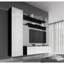 conjunto meubles nora negro blanco g1.