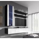 conjunto meubles nora negro blanco h2