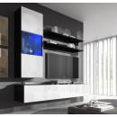 conjunto meubles nora negro blanco h3