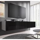 mueble tv forli xl blanco negro