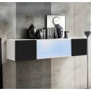 mueble tv krista h120cc blanco negro