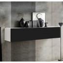 mueble tv krista h150 blanco negro