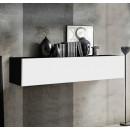mueble tv krista h150 negro blanco