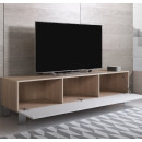 mueble-tv-luke-h2-160x30-pies-aluminio-sonoma-blanco-abierto