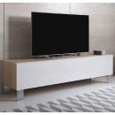 mueble-tv-luke-h2-160x30-pies-aluminio-sonoma-blanco