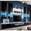 mueble salon arlesa blanco negro