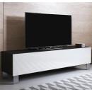 tv-meubel-luke-h2-160x30-aluminium-poten-zwart-wit