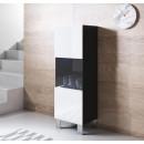 vetrinetta-luke-v3-40x126cm-piedini-alluminio-nero-bianco