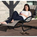 Tumbona wave Lounger - Aluminum - Macchiato on Matte Grey