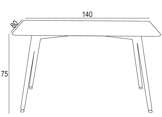 Mesa de comedor Suecia 140x80cm blanca