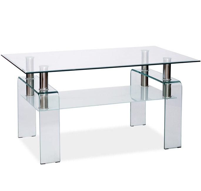 Mesa de centro nilo transparente 110x60 cm - Mesa centro transparente ...