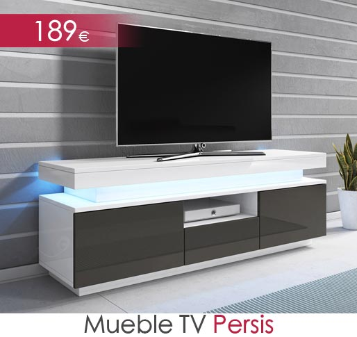 Mueble de televisión Persis alto brillo
