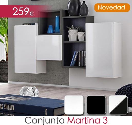 Conjunto de muebles con módulos modelo Martina