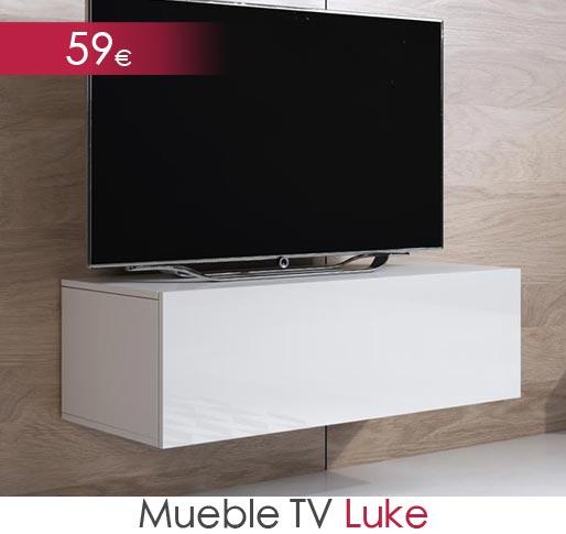 Mueble de televisión barato blanco