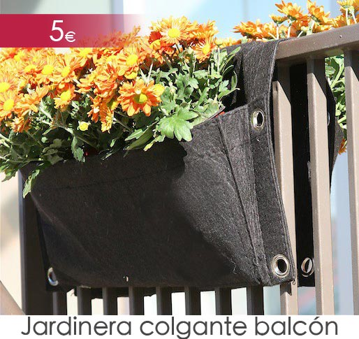 Jardinera colgante para balcón